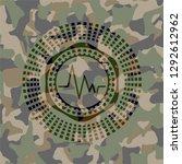 electrocardiogram icon inside... | Shutterstock .eps vector #1292612962
