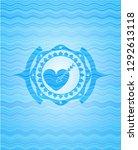 love icon inside water wave...   Shutterstock .eps vector #1292613118