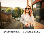attractive redhaired woman in...   Shutterstock . vector #1292615152