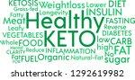 healthy ketogenic diet word... | Shutterstock .eps vector #1292619982