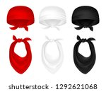 vector set of bandanas and neck ... | Shutterstock .eps vector #1292621068