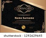 elegant certificate template... | Shutterstock .eps vector #1292629645