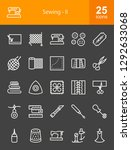 sewing line icons | Shutterstock .eps vector #1292633068