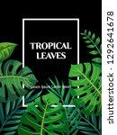 trendy summer tropical leaves... | Shutterstock .eps vector #1292641678
