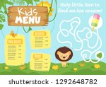 Kids Food Menu Design Template...