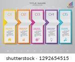5 steps timeline infographic... | Shutterstock .eps vector #1292654515