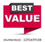 red vector banner best value | Shutterstock .eps vector #1292659108