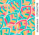 seamless abstract pattern.... | Shutterstock .eps vector #1292661748