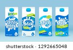 set of milk tetra pack with... | Shutterstock .eps vector #1292665048