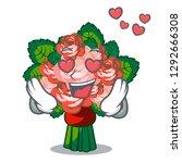 in love flower bouquet on... | Shutterstock .eps vector #1292666308