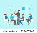 vector illustration in flat... | Shutterstock .eps vector #1292667148