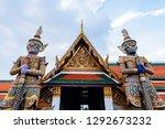 the golden giant standing guard ...   Shutterstock . vector #1292673232