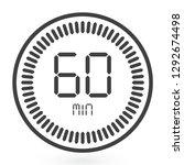 digital countdown timer vector...