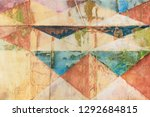 decorative pattern with faded... | Shutterstock . vector #1292684815