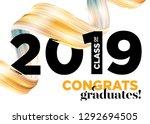 congratulations graduates class ... | Shutterstock .eps vector #1292694505