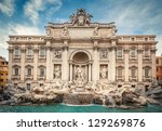 Fountain Di Trevi In Rome  Italy