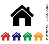 home icon vector. house | Shutterstock .eps vector #1292700808