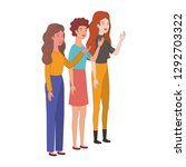 young women standing avatar... | Shutterstock .eps vector #1292703322