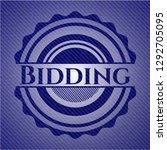 bidding badge with denim...   Shutterstock .eps vector #1292705095