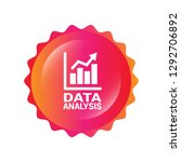 data analysis  graph icon ... | Shutterstock .eps vector #1292706892