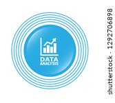 data analysis  graph icon ... | Shutterstock .eps vector #1292706898
