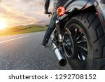detail of motorcycle rider... | Shutterstock . vector #1292708152