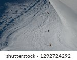 free ride skiers  skiing down... | Shutterstock . vector #1292724292