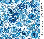 seamless pattern with... | Shutterstock .eps vector #1292724952