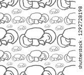 mushrooms vector seamless... | Shutterstock .eps vector #1292728198
