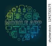 mobile app vector round modern...