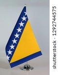 table flag of bosnia and... | Shutterstock . vector #1292744575