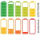 set of batteries with different ... | Shutterstock .eps vector #1292750248