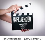 vlogger and influencer social...   Shutterstock . vector #1292759842