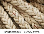 vintage nautical knots. big... | Shutterstock . vector #129275996
