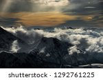 fantastic dreamy sunrise on top ... | Shutterstock . vector #1292761225