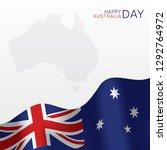 australia day vector banner... | Shutterstock .eps vector #1292764972