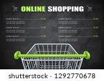 shopping cart for supermarket... | Shutterstock .eps vector #1292770678