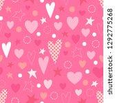 love seamless pattern. hearts ...   Shutterstock .eps vector #1292775268