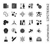 biochemistry glyph vector icons  | Shutterstock .eps vector #1292783062