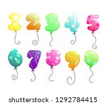 air balloons numbers set. air... | Shutterstock .eps vector #1292784415