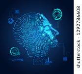 concept of biometric  digital...   Shutterstock .eps vector #1292786608