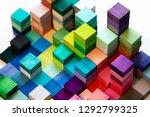 spectrum of stacked multi... | Shutterstock . vector #1292799325