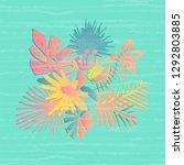 tropical flower composition ... | Shutterstock . vector #1292803885
