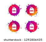 sale price tag icons. discount... | Shutterstock .eps vector #1292806435