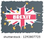 brexit   uk exit from the... | Shutterstock .eps vector #1292807725