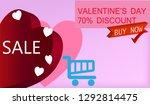 illustration of the valentine's ... | Shutterstock .eps vector #1292814475