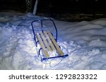 abstract sled on snow lighted... | Shutterstock . vector #1292823322