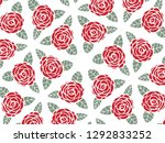 happy valentine's day with... | Shutterstock .eps vector #1292833252