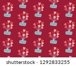 happy valentine's day with... | Shutterstock .eps vector #1292833255