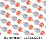 valentine's day pattern... | Shutterstock .eps vector #1292833258